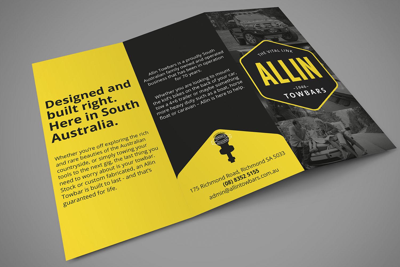 Allin Towbars 3-fold brochure