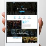 Revive Fitness website on ipad display