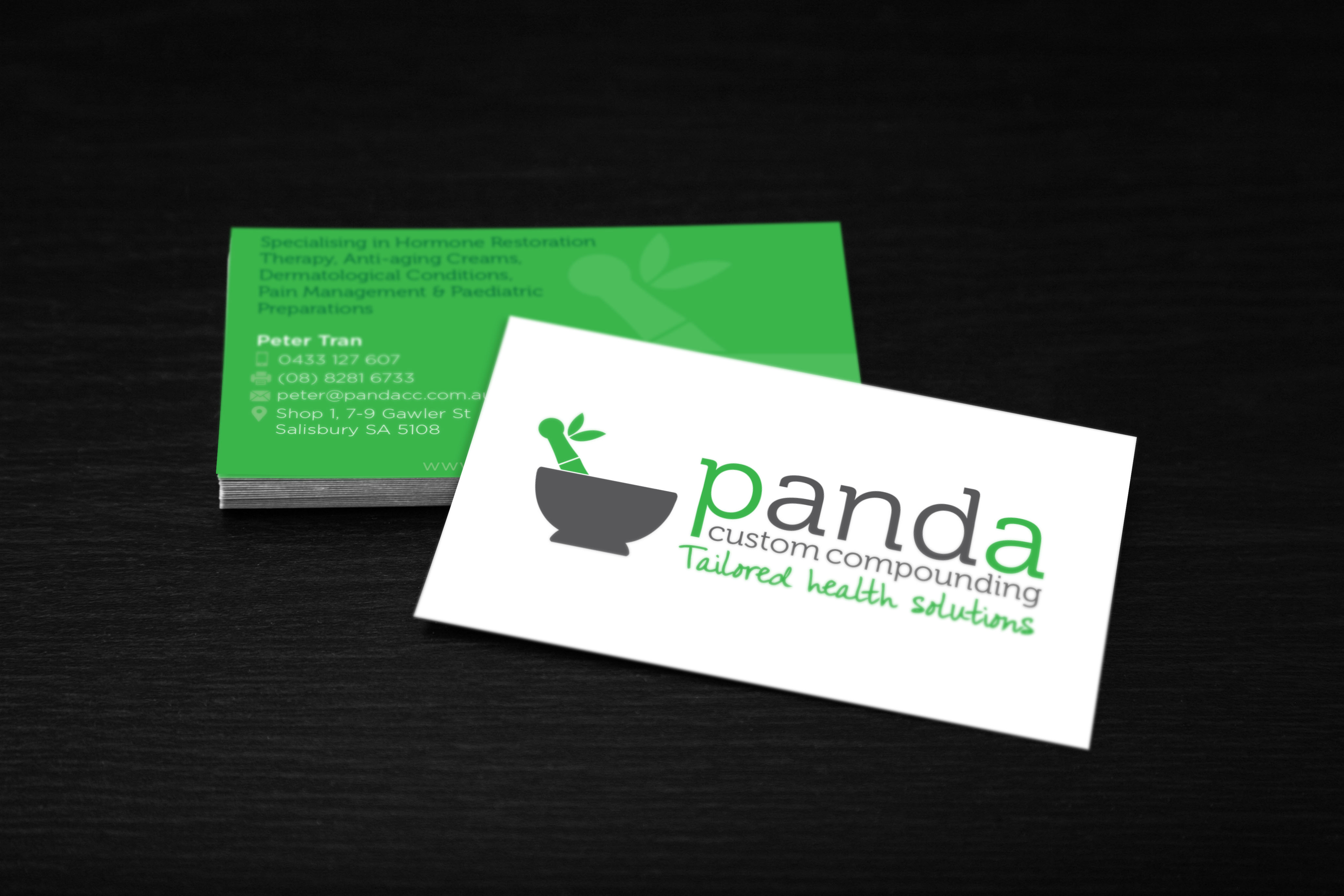 P and A Compounding business card
