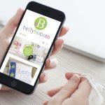 Belly Bottom website on mobile display