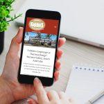 Tubbies website on mobile display