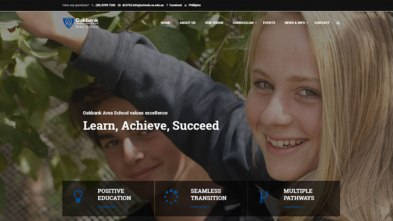 school website design adelaide